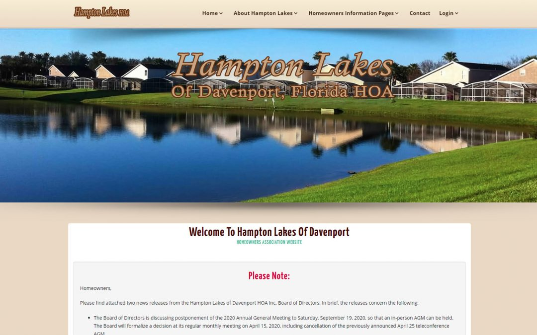 Hampton Lakes HOA